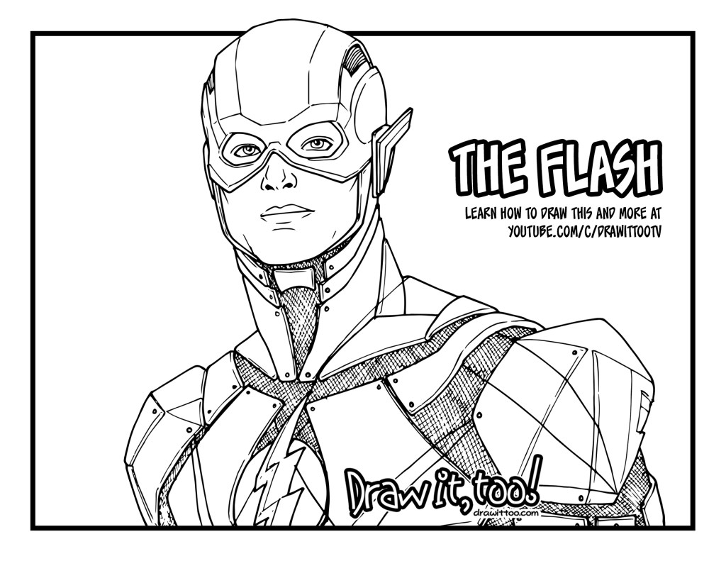 how to draw the flash justice league drawing tutorial