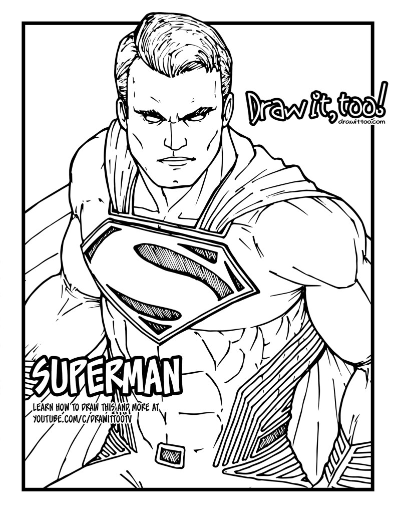 Superman How To Draw Coloring Pages Pppa Pig Coloring Pages