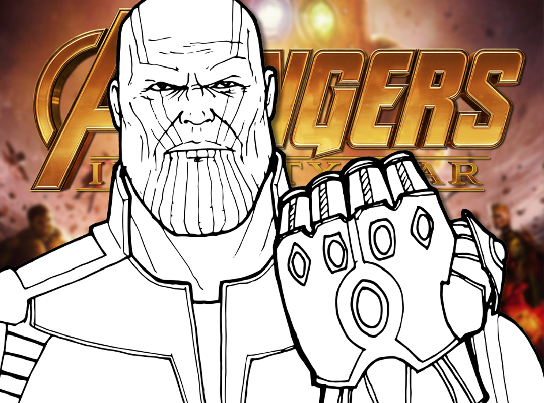 How to Draw THANOS Avengers Infinity