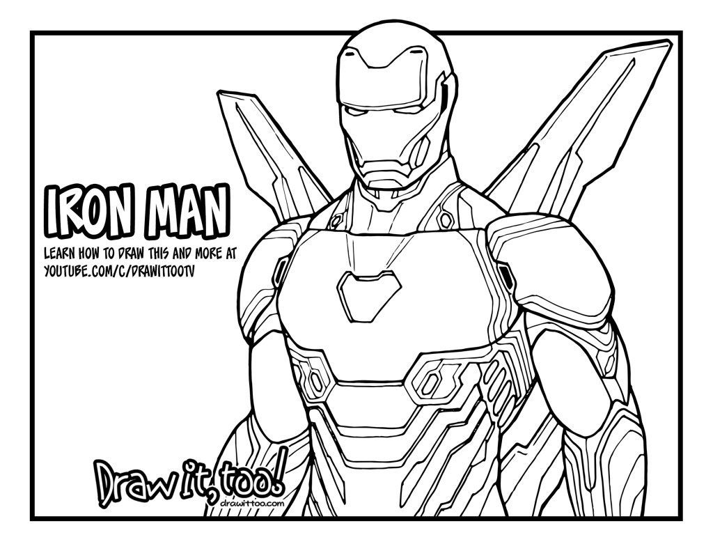How to Draw IRON MAN (Avengers: Infinity War) Drawing ...