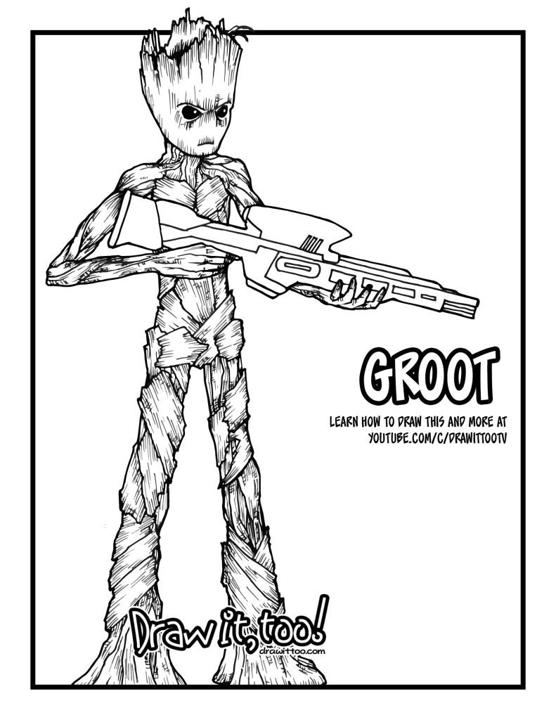 How to Draw TEENAGE GROOT (Avengers: Infinity War) Drawing ...