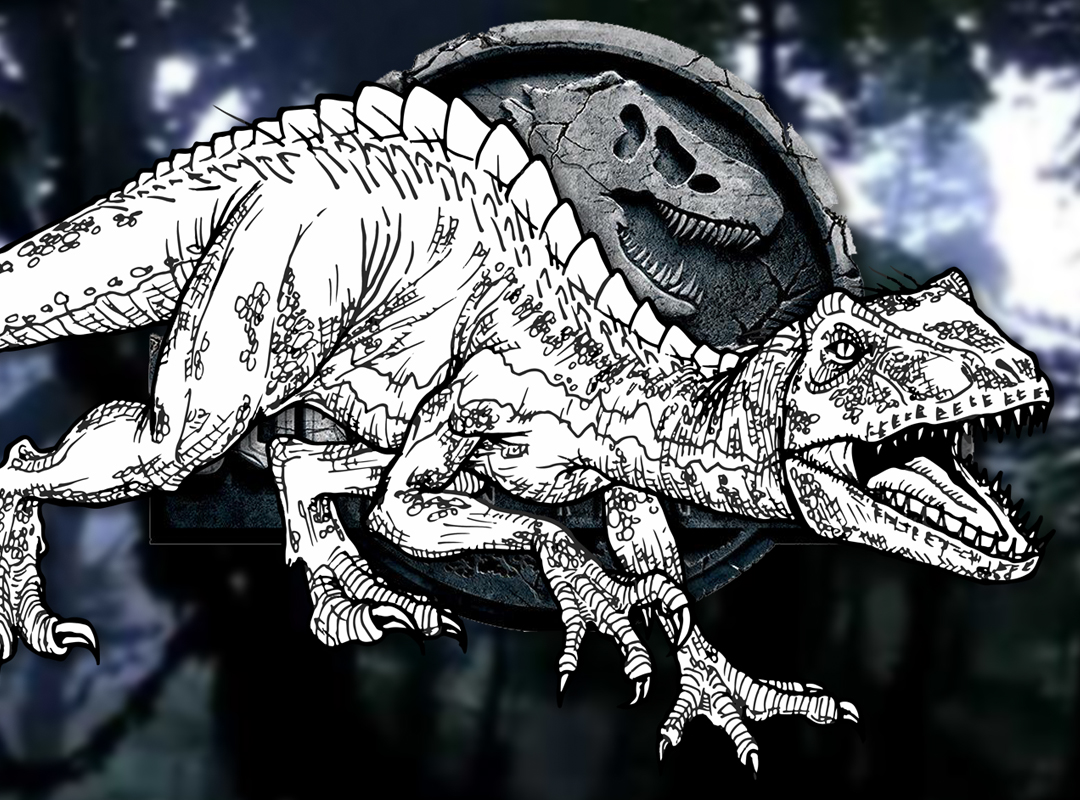 How to Draw the INDORAPTOR Jurassic