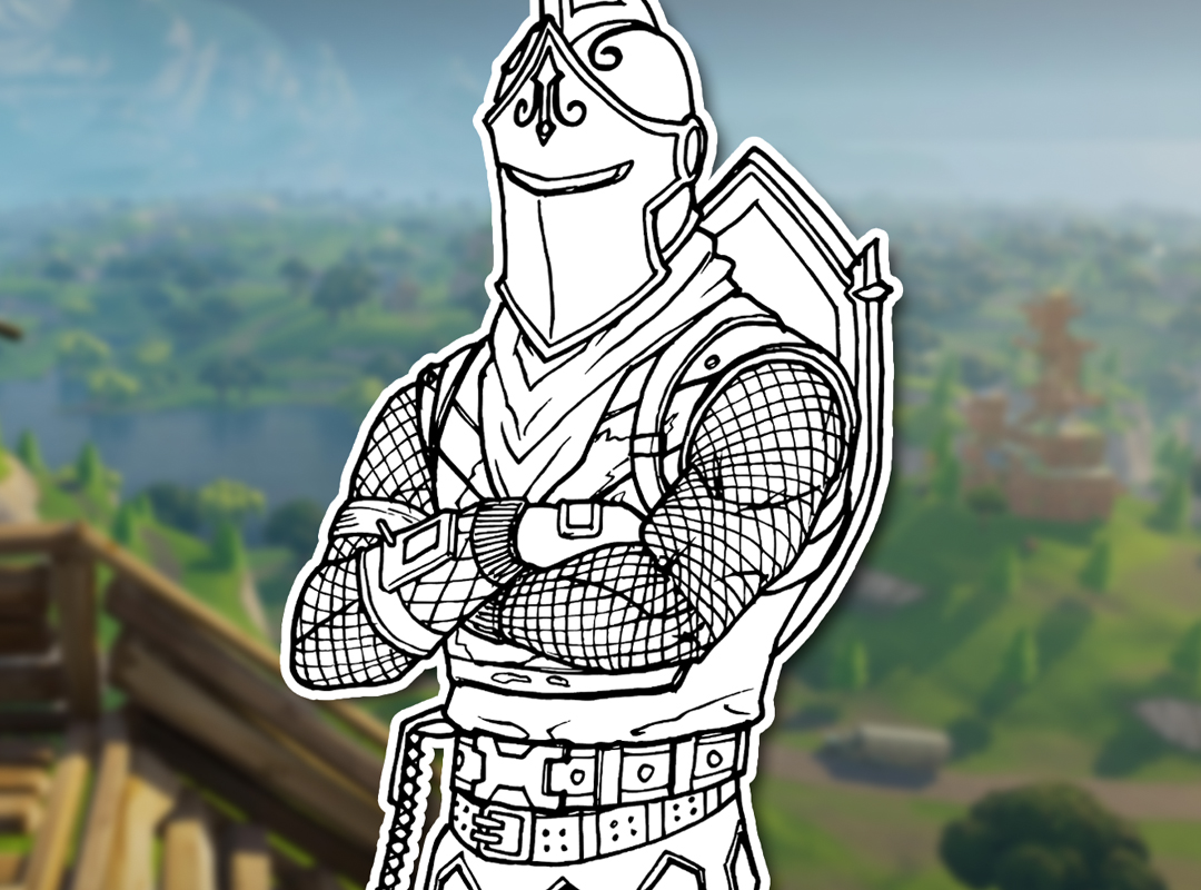 How To Draw The BLACK KNIGHT (Fortnite: Battle Royale