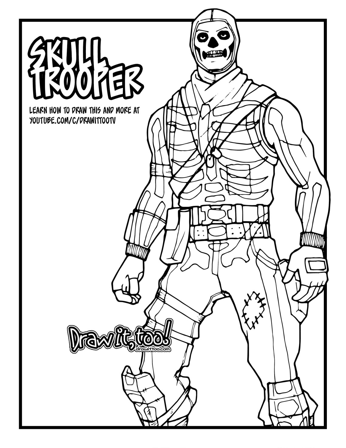 This is an image of Satisfactory Fornite Coloring Pages