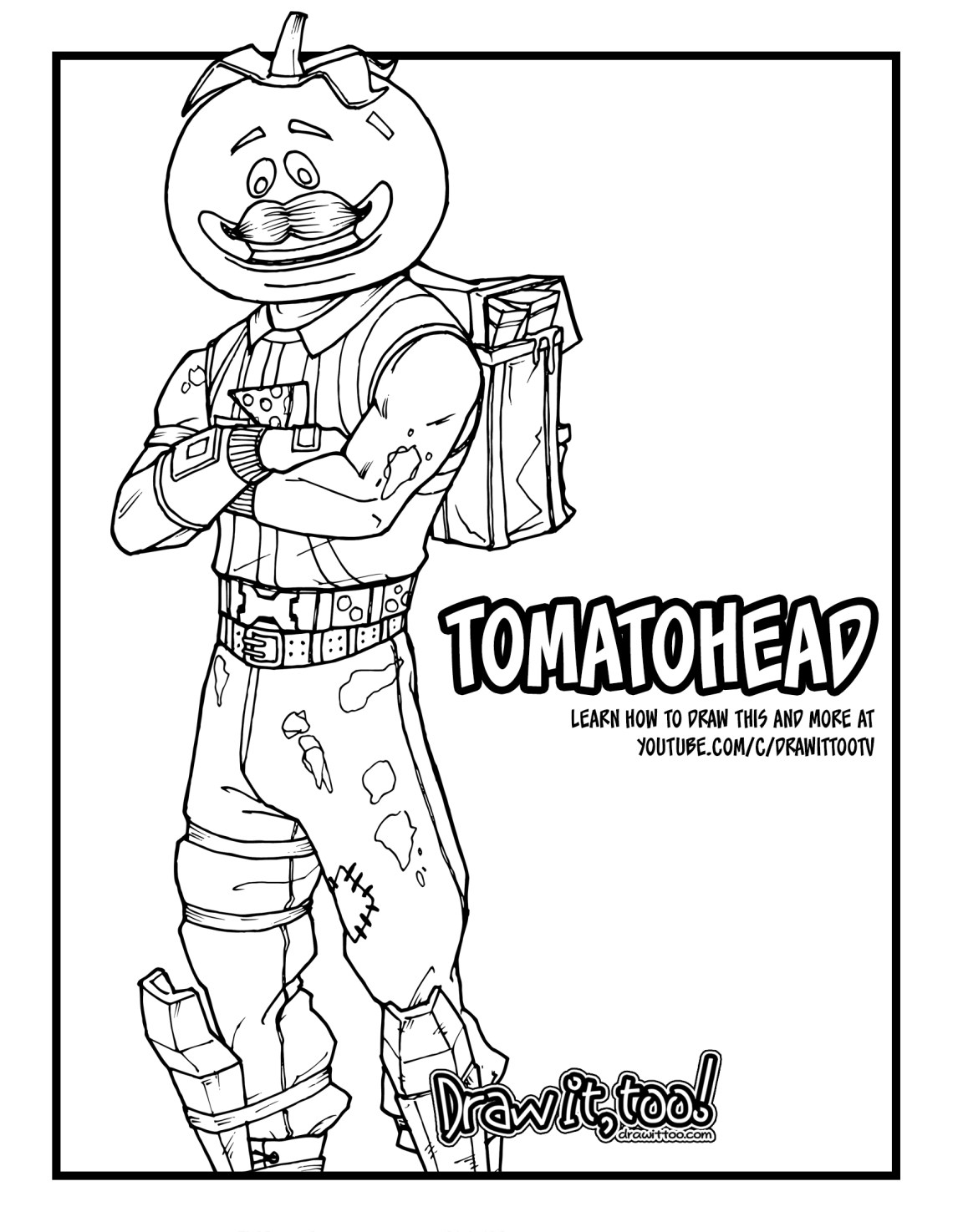How to Draw TOMATOHEAD Fortnite