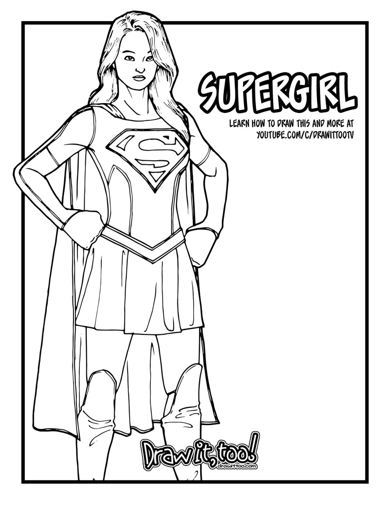 DC Superhero Girls Coloring Pages - Best Coloring Pages For Kids | 1024x791