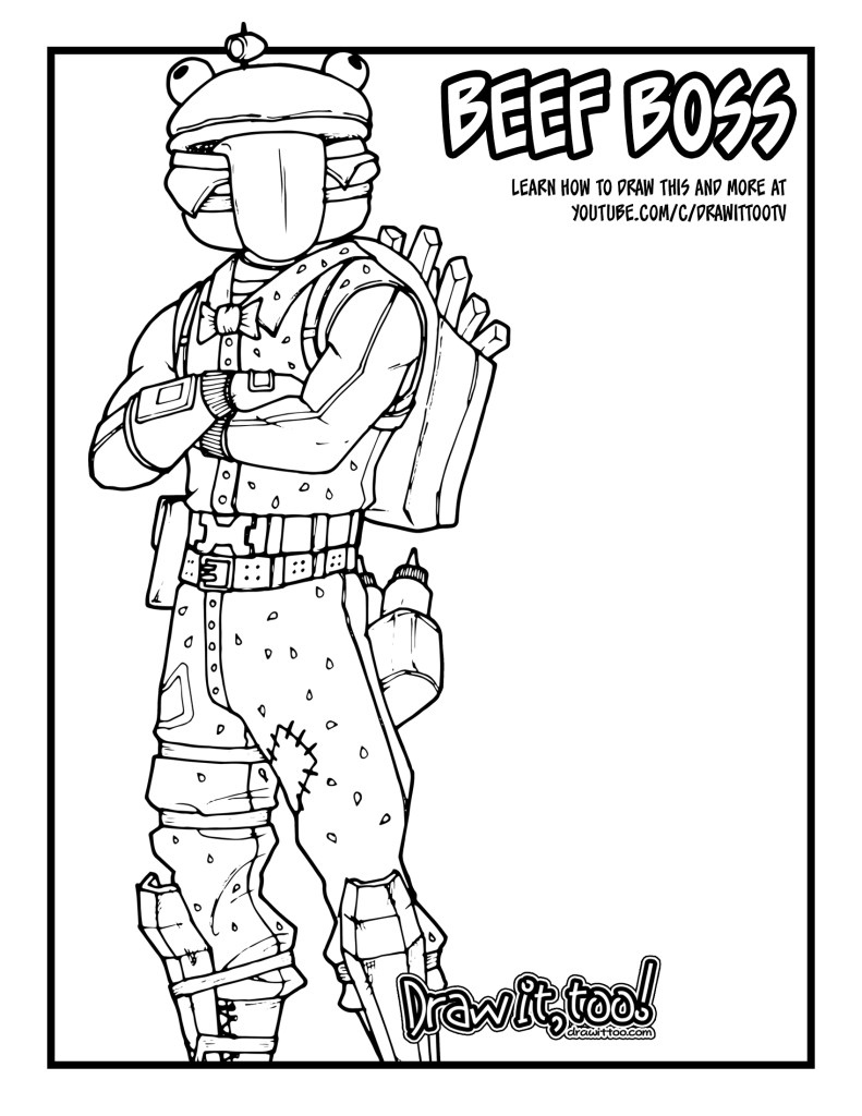 Fortnite Beef Coloring Boss Pages