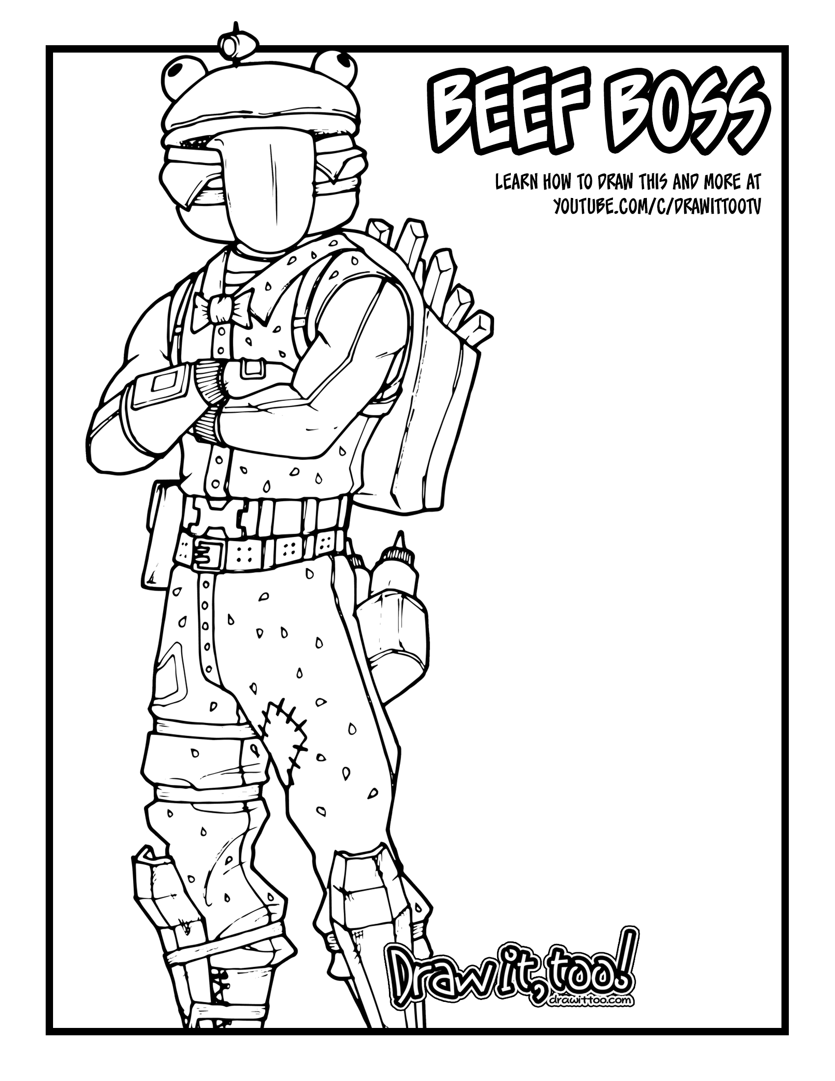 Fortnite John Wick Coloring Pages Fortnite Free For All