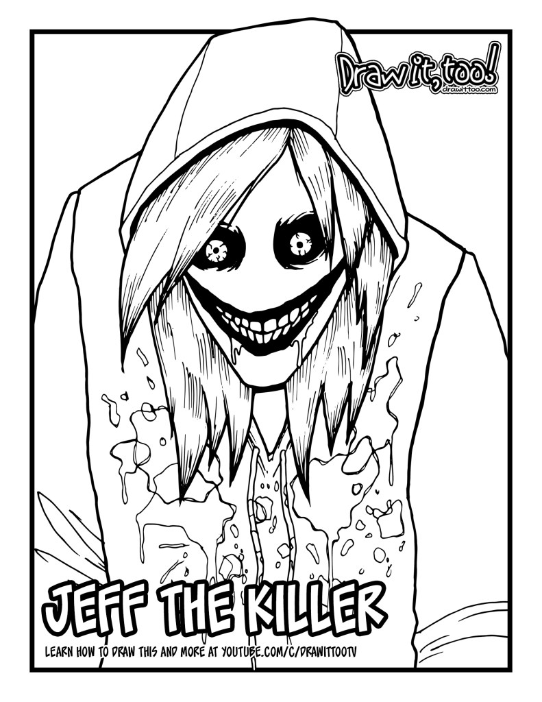 DOWNLOAD THE JEFF KILLER COLORING PAGE HERE
