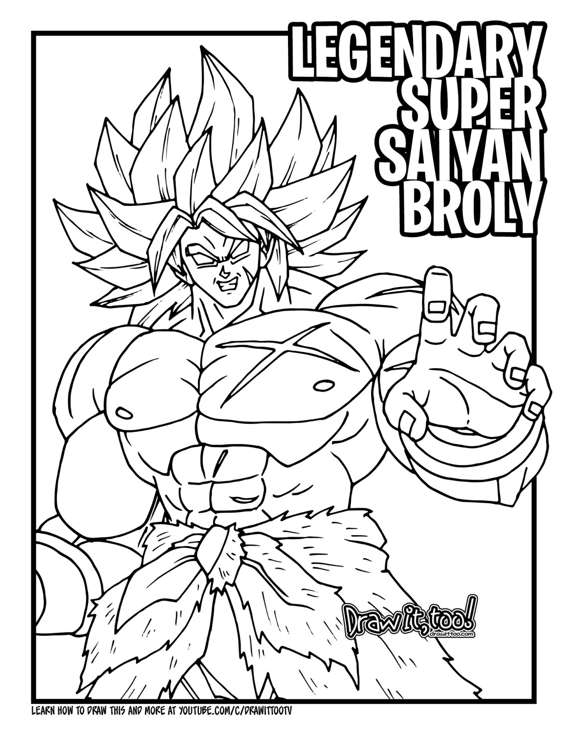 Dragon ball z broly coloring pages ~ How to Draw LEGENDARY SUPER SAIYAN BROLY (Dragon Ball ...