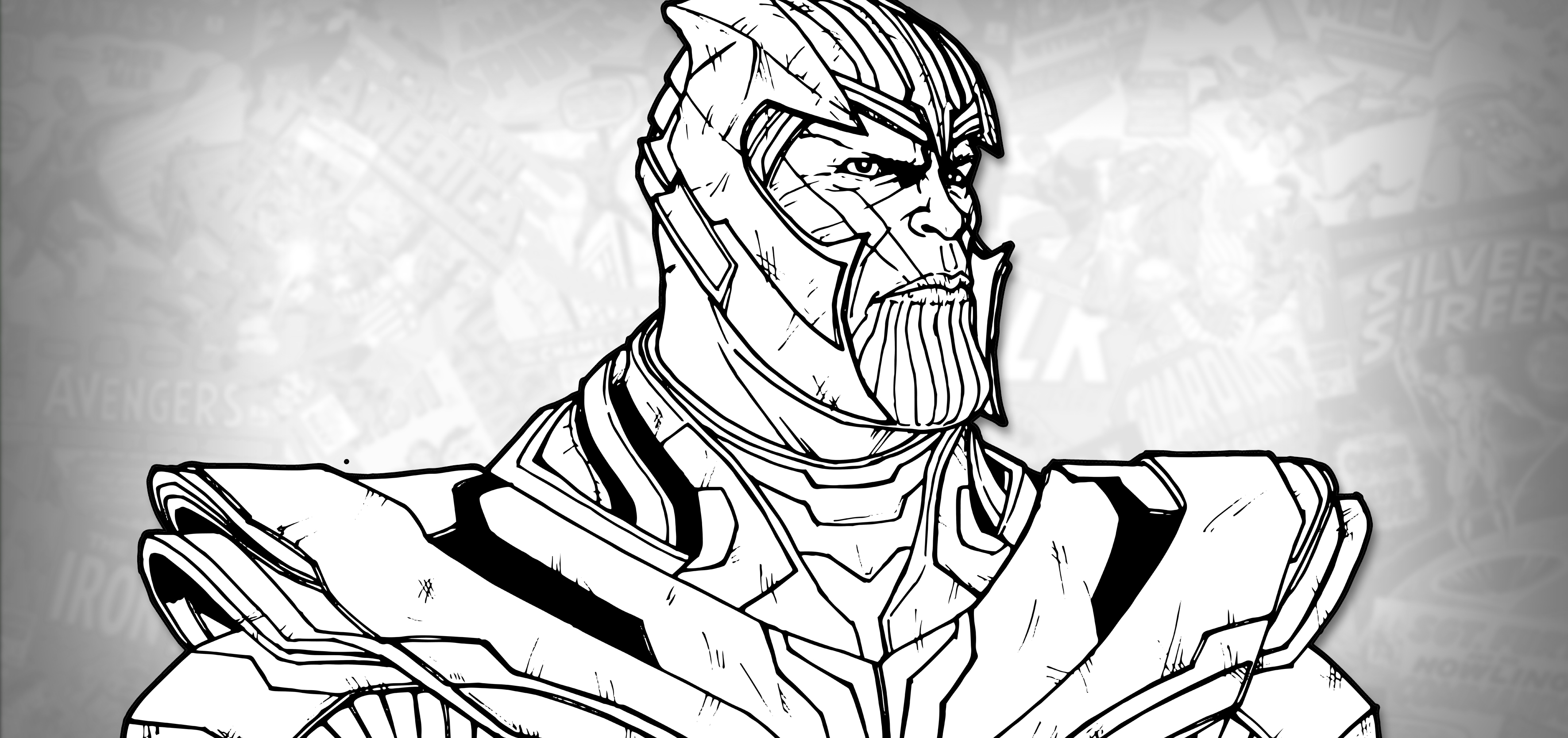 How to Draw THANOS (Avengers: Endgame) Drawing Tutorial ...