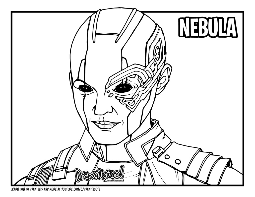 How to Draw NEBULA (Avengers: Endgame) Drawing Tutorial ...