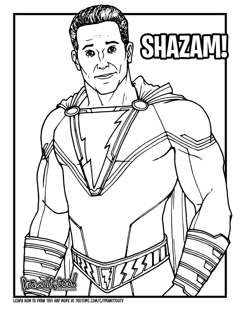How to Draw SHAZAM! (2019 Movie) Drawing Tutorial | Draw ...