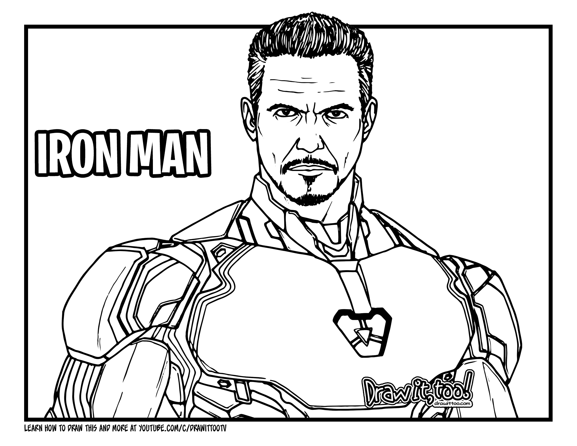 How to Draw IRON MAN (Avengers: Endgame) Drawing Tutorial