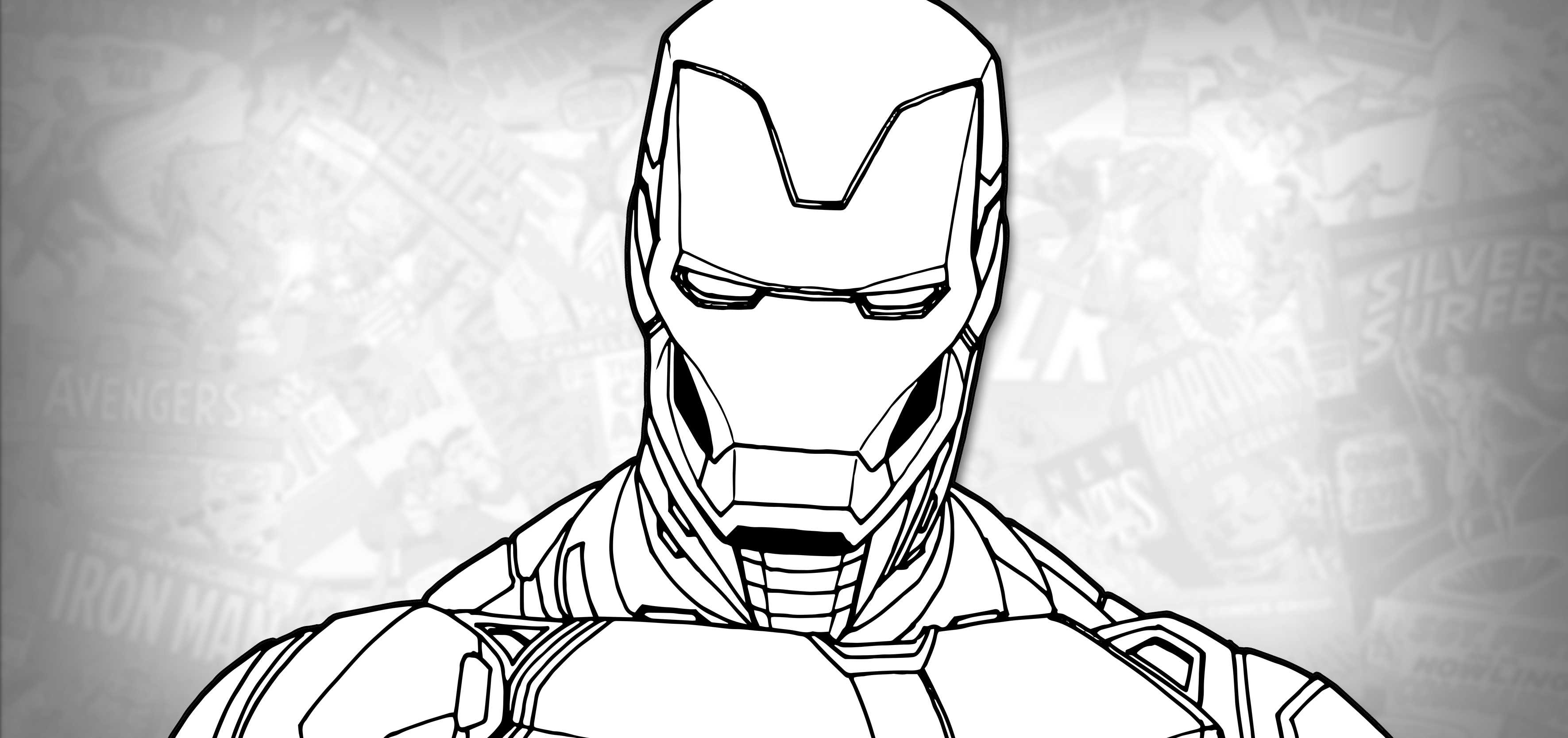 How To Draw Iron Man Mark 85 Avengers Endgame Drawing Tutorial