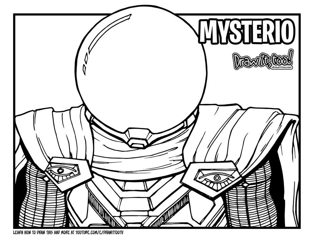 mysterio spiderman coloring pages - photo#2