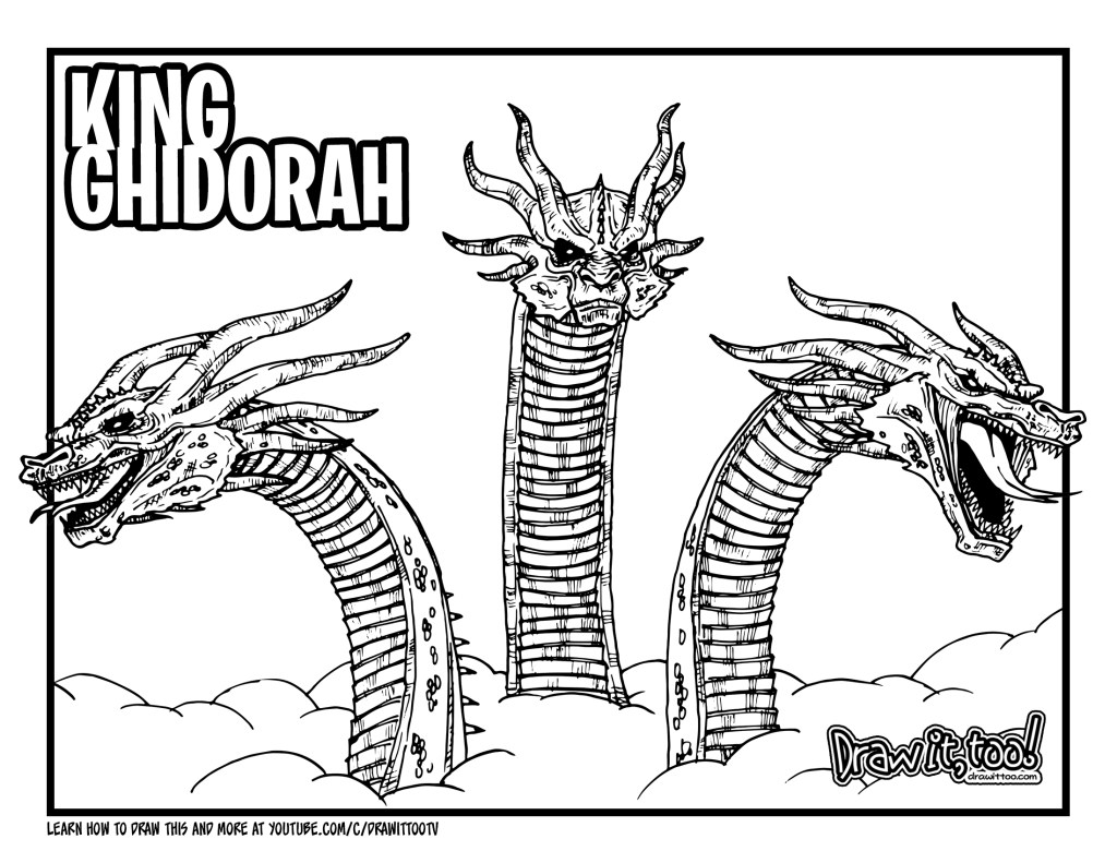How to Draw KING GHIDORAH (Godzilla: King of the Monsters ...