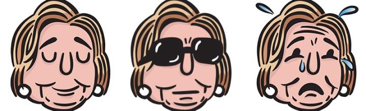 Hillary Clinton Emojis for The Nib