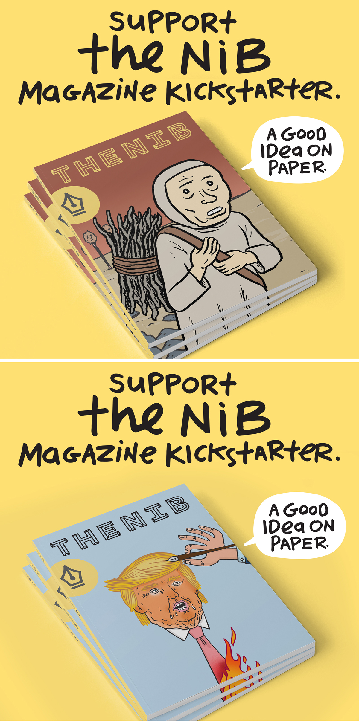 Drawmark blog, The Nib Magazine Kickstarter advertising campaign