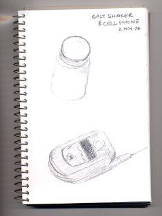 Salt and cellphone, 2 Nov 2006