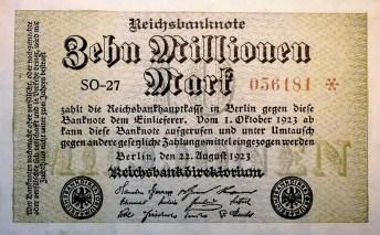 Inflation allemande 10 millions de marks