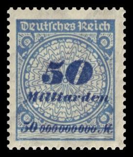 Timbre allemand pendant l'hyperinflation de 1923
