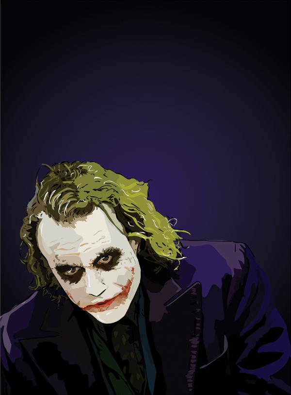 heath ledger joker poster