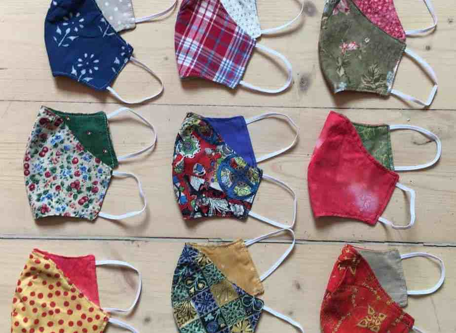 Hand- made Cotton Face masks for sale as Mission Hall fund raiser