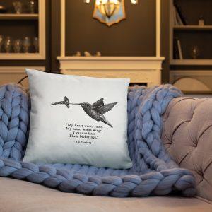 """""""Hummingbird' pillow"""