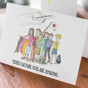 'Third Culture Kids are AMAZING' – 4 x 6″ blank greeting card