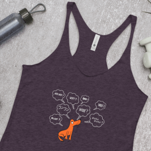 'Dog-lost in Transition' – tank top