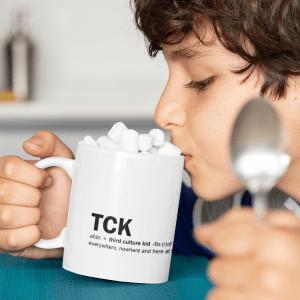 Everywhere, nowhere and here TCK Mug