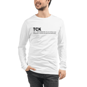 'Everywhere, nowhere and here at the same time' TCK Unisex Long Sleeve Tee