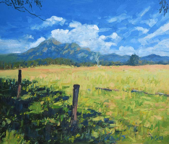 Landscape Painting Tutorial – Mount Barney
