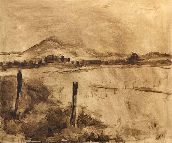 Landscape painting sketch