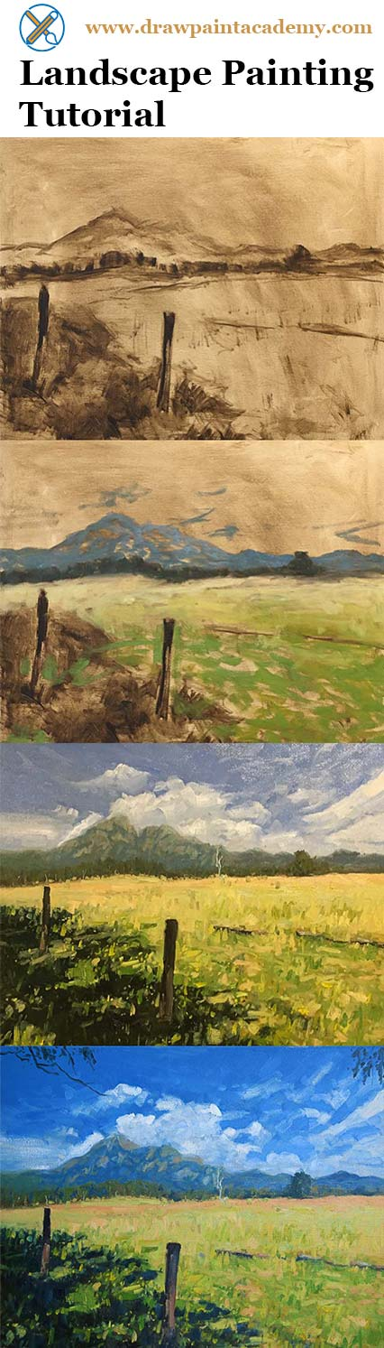 Check out this landscape painting tutorial of Mt Barney, Australia.