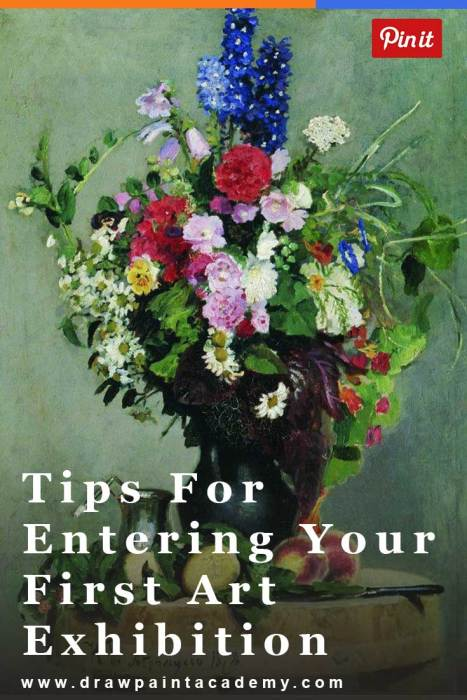 Tips For Entering Your First Art Exhibition