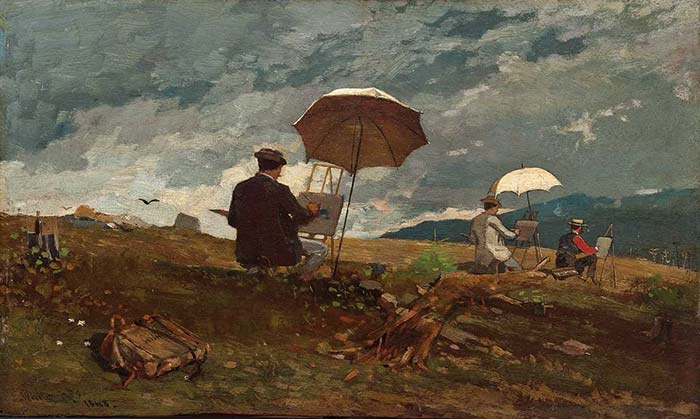 Winslow Homer, Artists Sketching in the White Mountains, 1868, oil on panel
