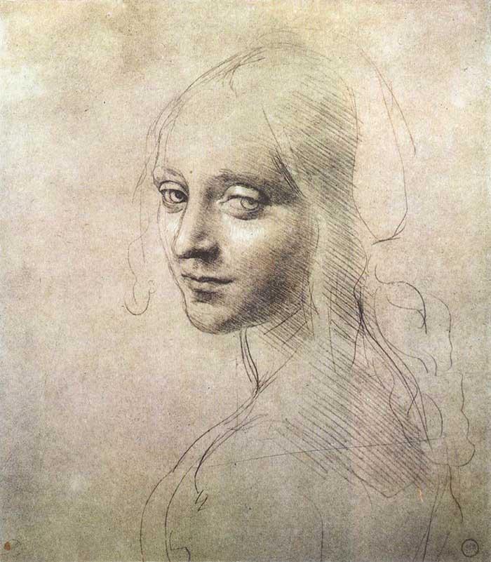Leonardo da Vinci, Head of a Girl, 1483