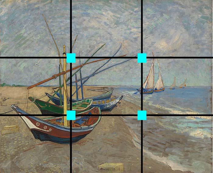 Fishing Boats on the Beach at Les Saintes-Maries-de-la-Mer, Vincent van  Gogh, 1888