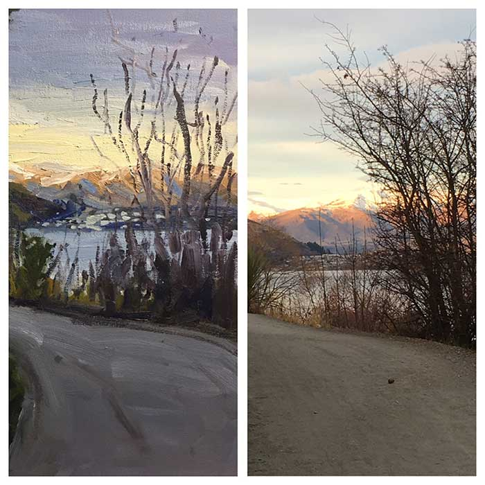 Progress Shot 11, Step By Step Painting Tutorial - Afternoon In Queenstown