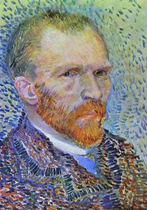 14. Vincent van Gogh, Self-Portrait, 1887