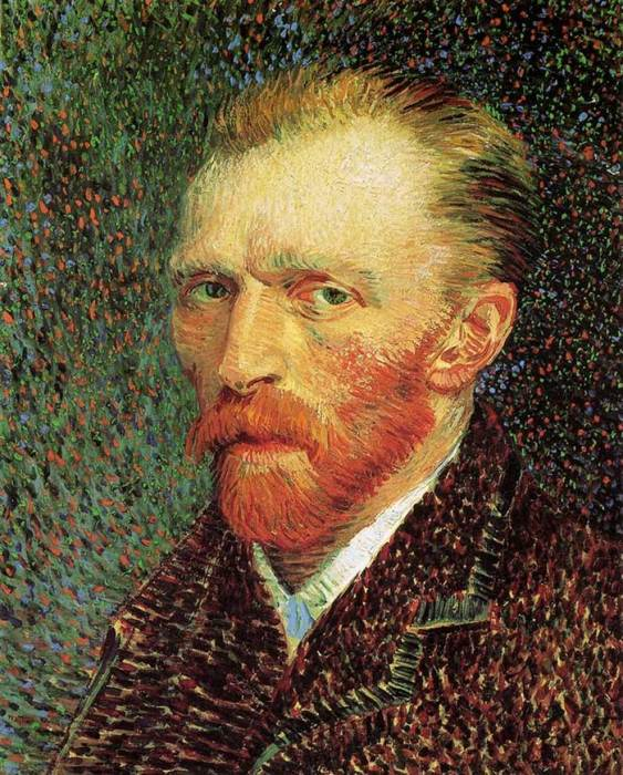 19. Vincent van Gogh, Self-Portrait, 1887