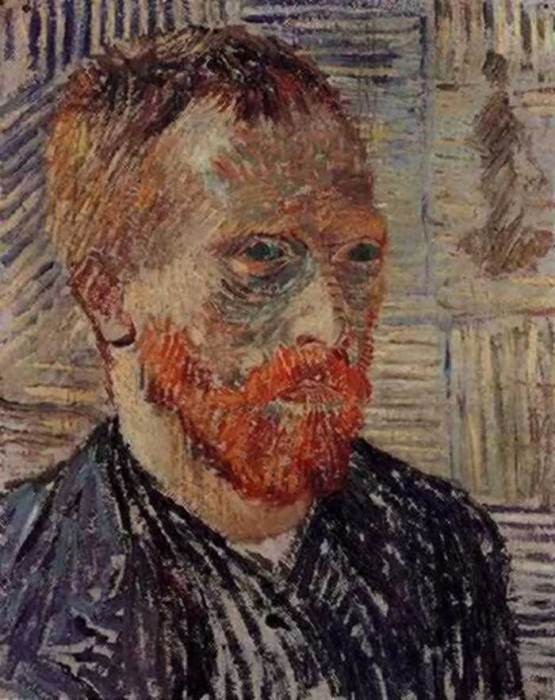 22. Vincent van Gogh, Self-Portrait With A Japanese Print, 1887