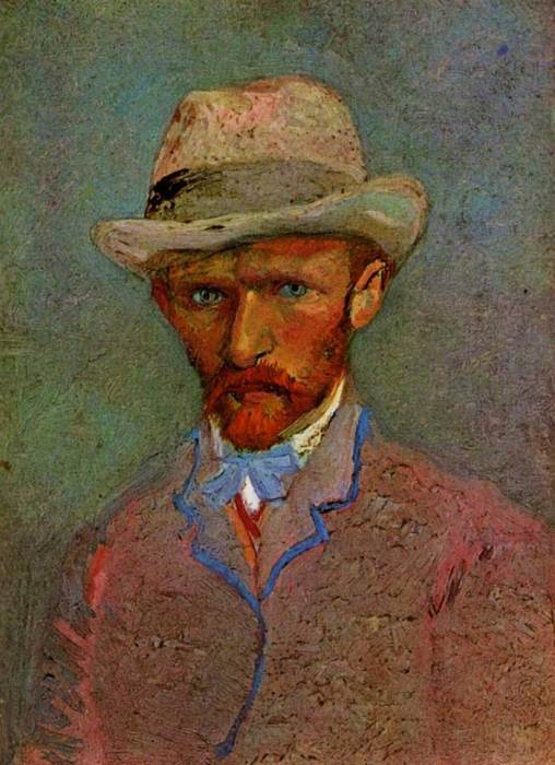 23. Vincent van Gogh, Self-Portrait With Gray Felt Hat, 1887