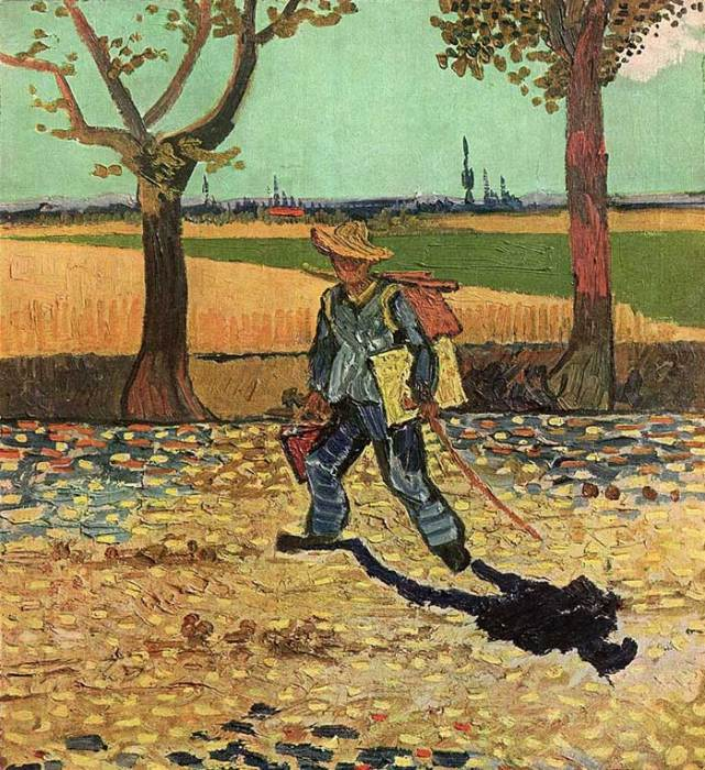 29. Vincent van Gogh, Self-Portrait On The Road To Tarascon (The Painter On His Way To Work), 1888