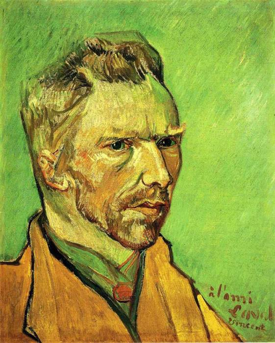 30. Vincent van Gogh, Self Portrait, 1888