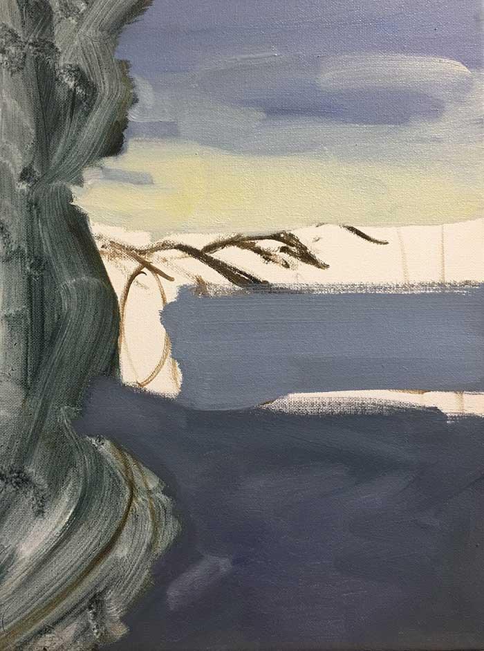 Block-In - Step By Step Painting Tutorial - Afternoon In Queenstownp By Step Painting Tutorial - Afternoon In Queenstown