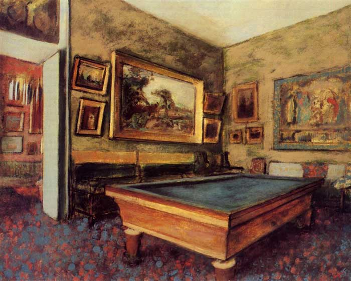 Edgar Degas, The Biliard Room At Menil-Hubert, 1892
