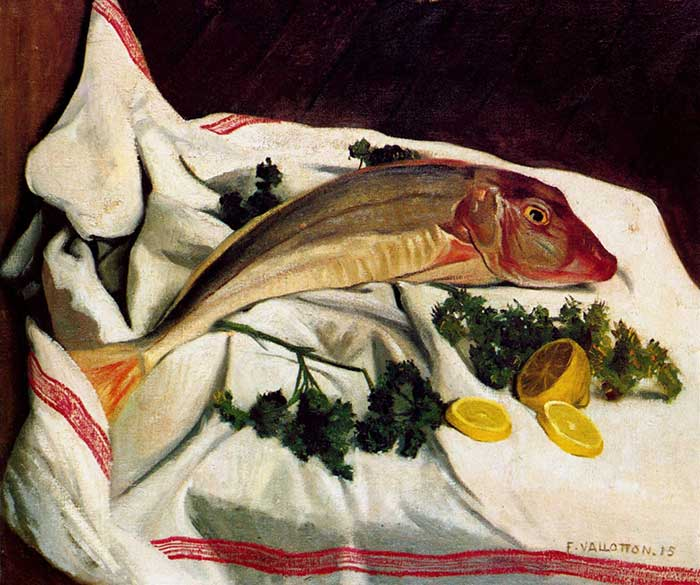 Felix Vallotton, A Gurnard One Has Towel, 1914